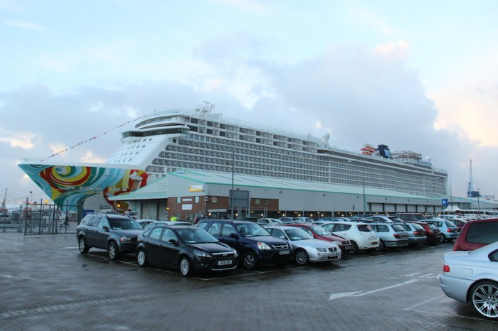 Norwegian Getaway docked in Southhampton