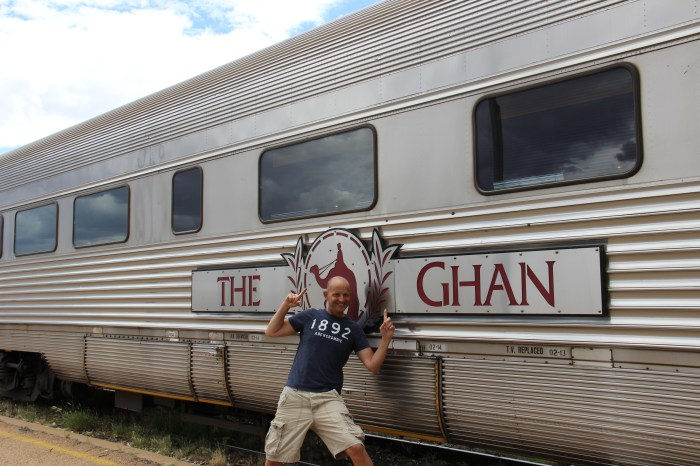 The Ghan Train in Alice Springs