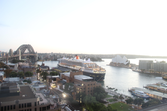 Cunard Queen Mary 2 in Sydney Harbour Australia