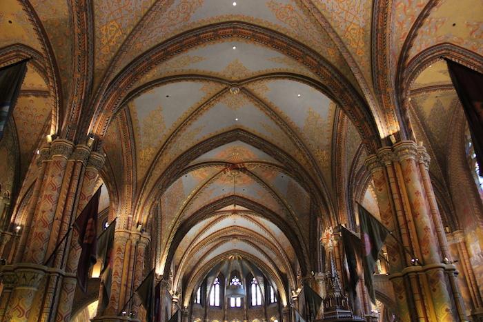 The stunning Matthias Church on Castle Hill Budapest