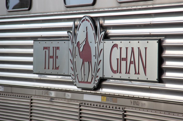The Ghan Train Logo