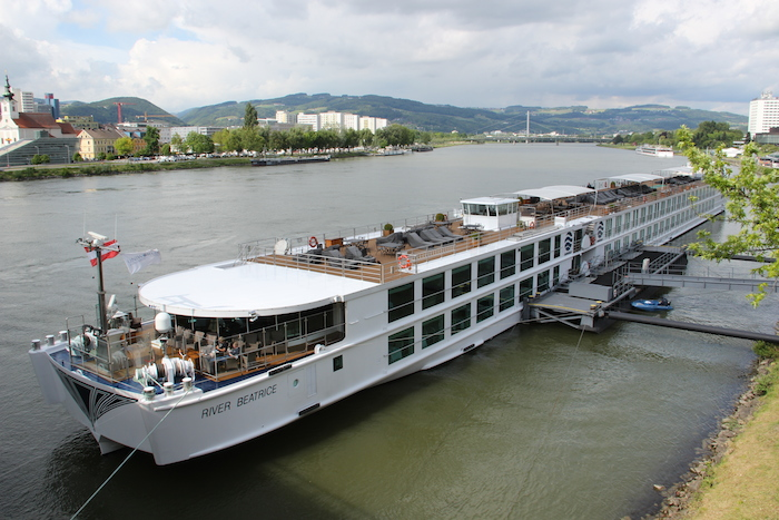 Uniworld River Beatrice River Cruise Ship in Linz Austria