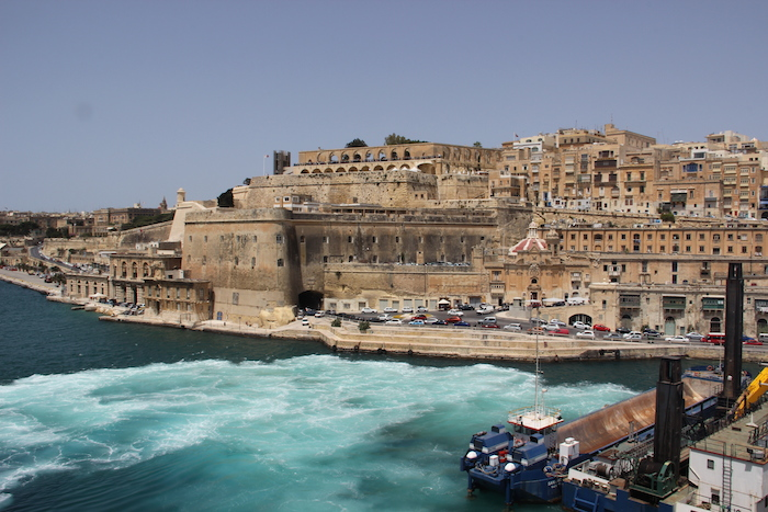 MSC Lirica coming in to dock in Valletta Harbour Malta