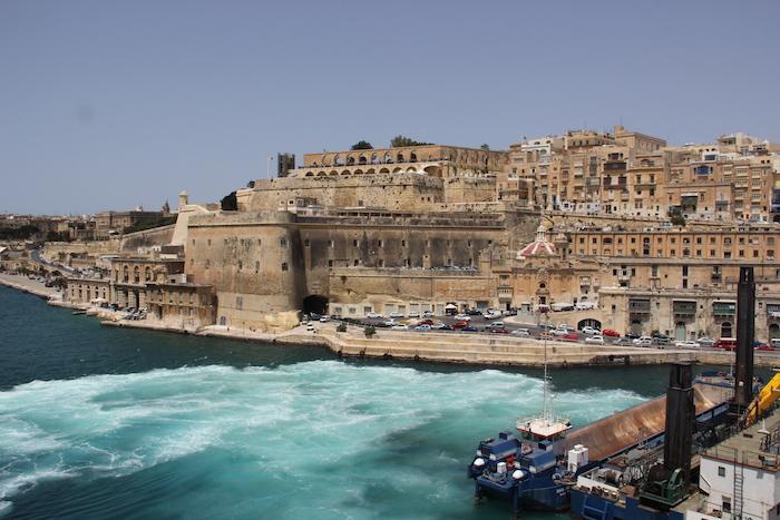 MSC Lirica coming in to dock in Valletta Harbour Malta