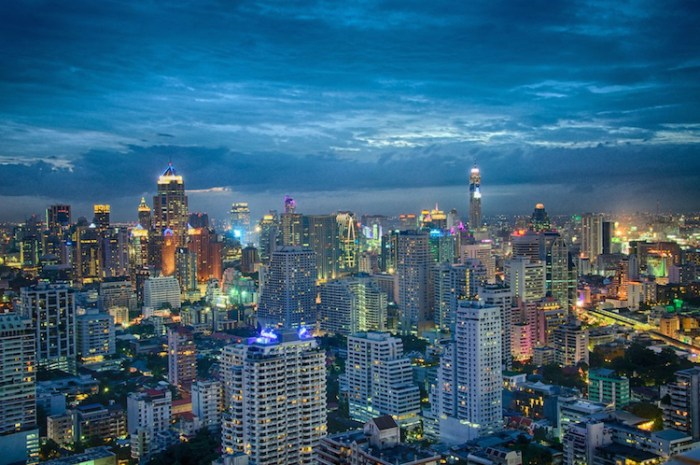 Bangkok Skyline. Photo by https://www.flickr.com/photos/eustaquio