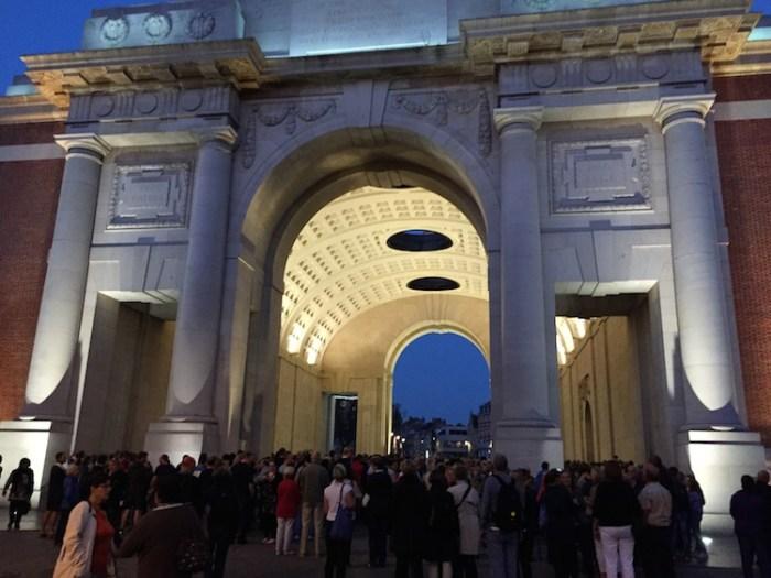 Menin Gate Last Post Ceremony Ieper Flanders Belgium