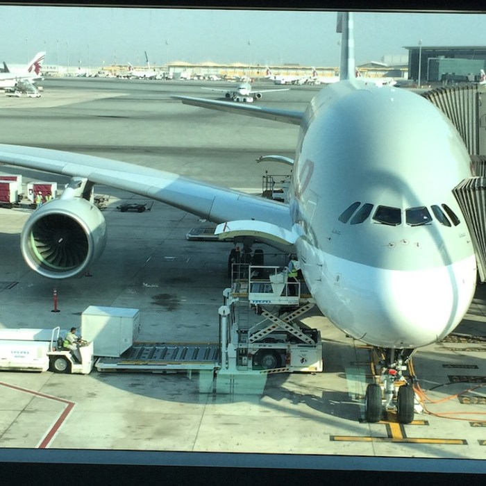 Qatar Airways A380 Doha Airport
