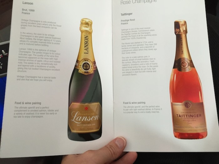 Qatar Airways A380 Wine Menu Booklet