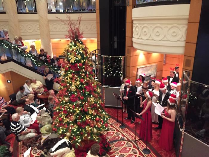 Cunard Queen Mary 2 Grand Lobby Christmas Carols