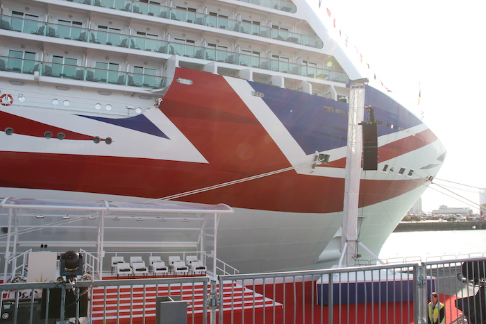 P&O Britannia Cruise Ship bow