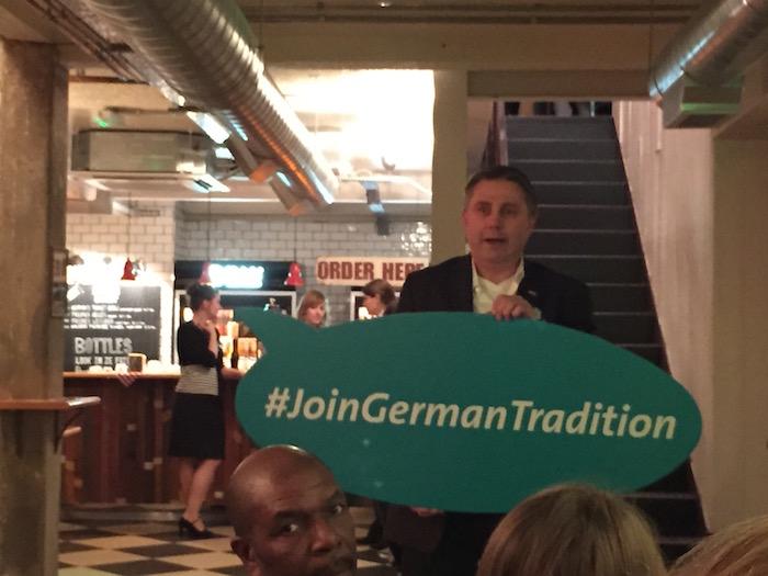#JoinGermanTradition evening Herman Ze German London