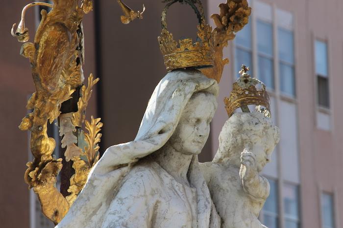 Virgin Mary Statue Chioggia Italy