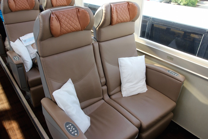 Rocky Mountaineer Train Gold Leaf Carriage Seat