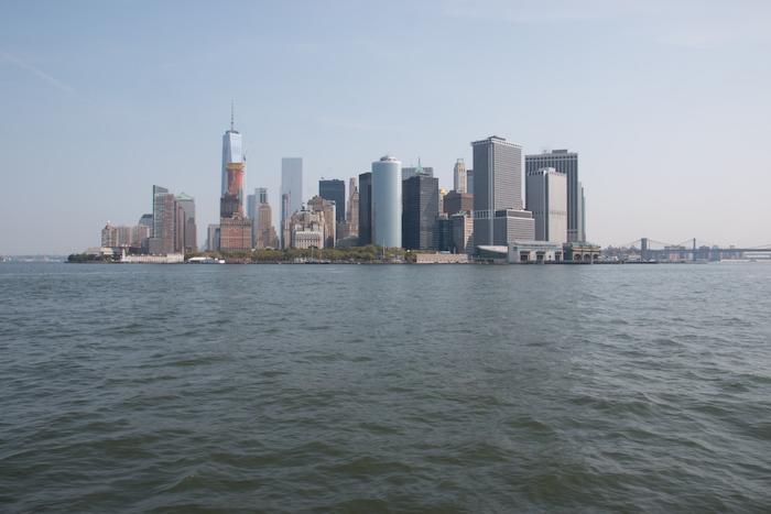 Lower Manhattan Skyline from Liberty Island Boat
