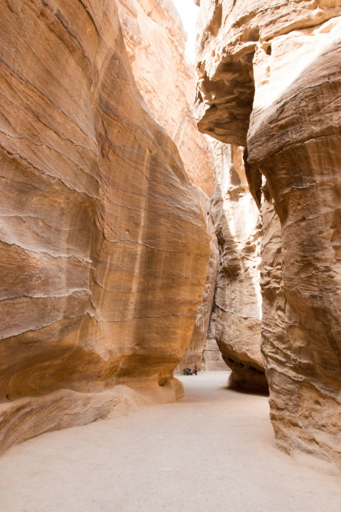 Passage of rocks into Petra Jordan