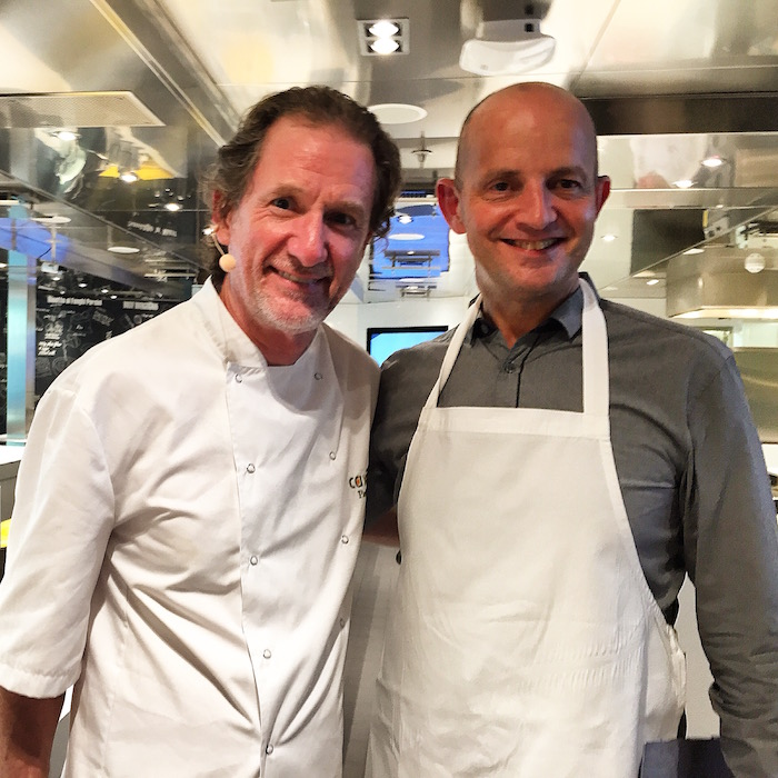 Paul Rankin and me in the Cookery Club on Britannia
