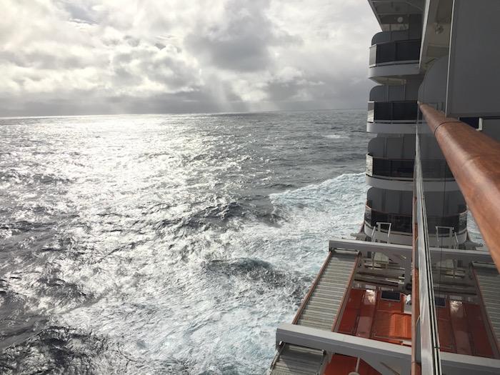 Cunard Queen Victoria Atlantic from 7082 Balcony