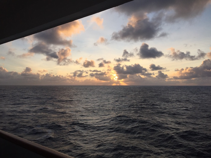 Sunrise from Cunard Queen Victoria In Atlantic