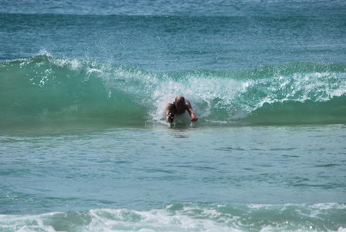 Body Surfing in Noosa Australia (Photo by Helen France)