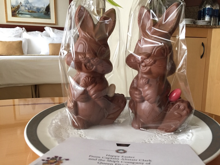 Easter Bunnies on Cunard Queen Elizabeth