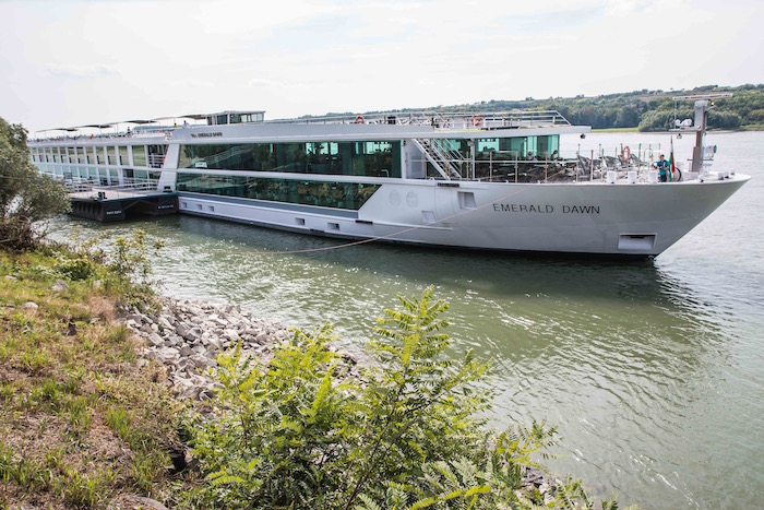 Emerald Waterways Emerald Dawn near Kalocsa Hungary