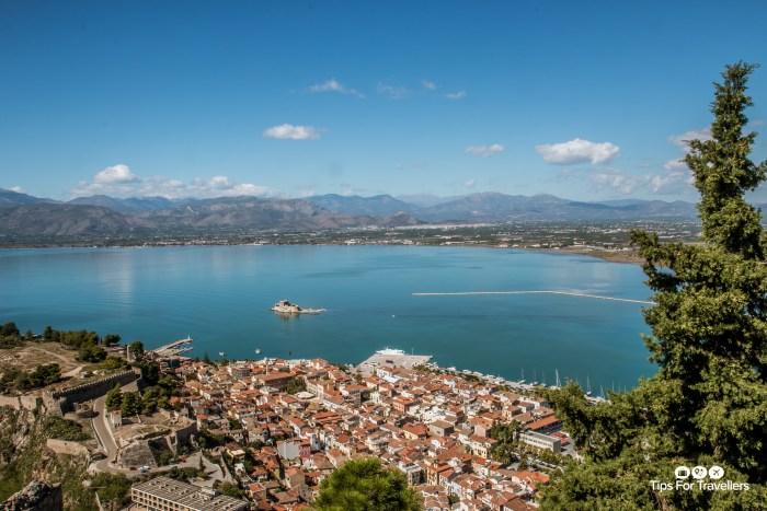 Nafplio Greece from Palamidi Fortress