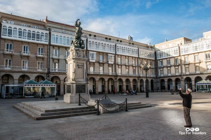 Statue of Maria Pita in La Coruna Spain