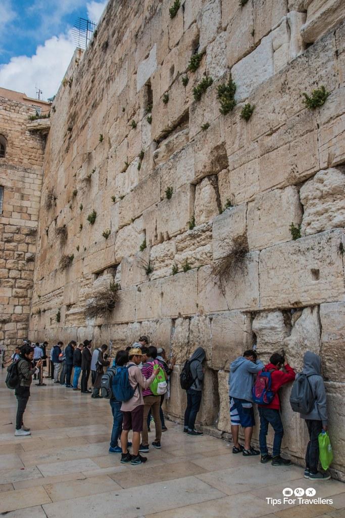 Worshippers at Western Wall Jerusalem Israel