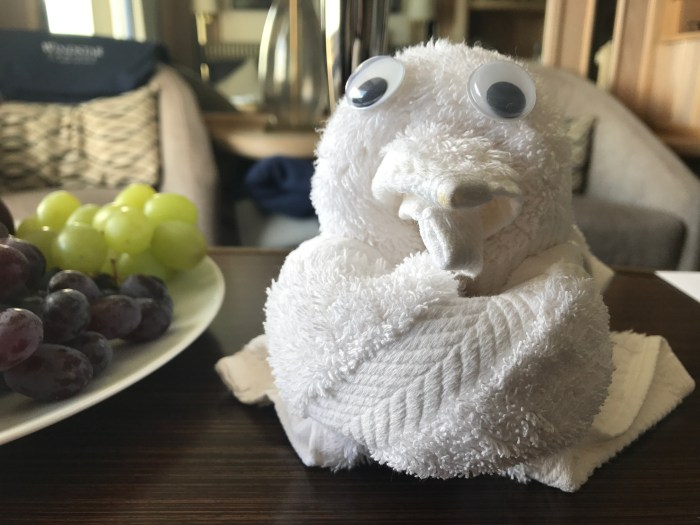 Towel Animal on Windstar Cruises