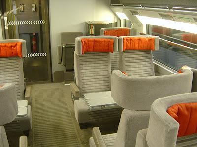 Eurostar Standard Premium carriage and seats