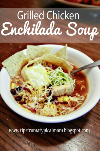 Grilled Chicken {Enchilada Soup} Recipe