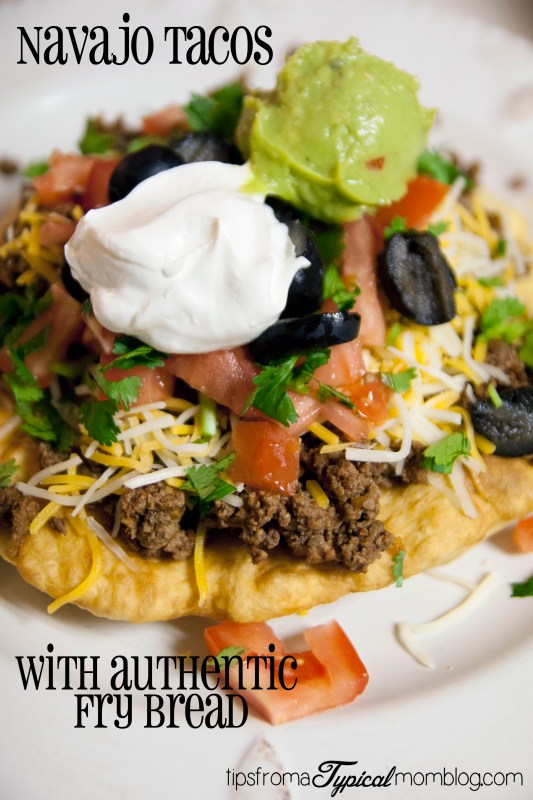 Navajo Tacos with Authentic Fry Bread