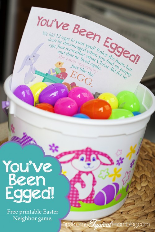 Youve Been Egged Free Printable Neighbor Easter Game