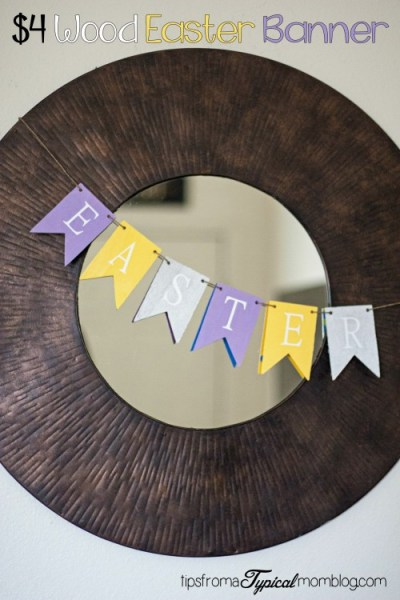 $4 DIY Wood Easter Banner Craft
