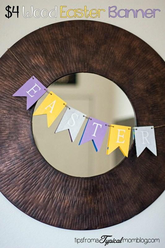 DIY Wood Easter Banner Craft