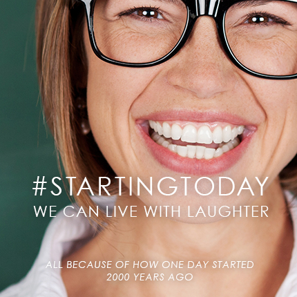 #startingtoday we can live with laughter. A deep look in to the Atonement and Resurrection of Christ. From Tips From a Typical Mom.