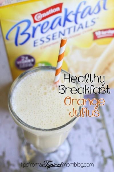 Healthy Breakfast Orange Julius Smoothie~ Carnation Breakfast Essentials