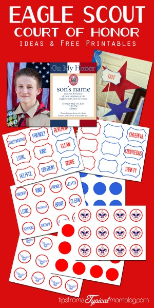 Eagle Scout Court of Honor Ideas & Free Printables