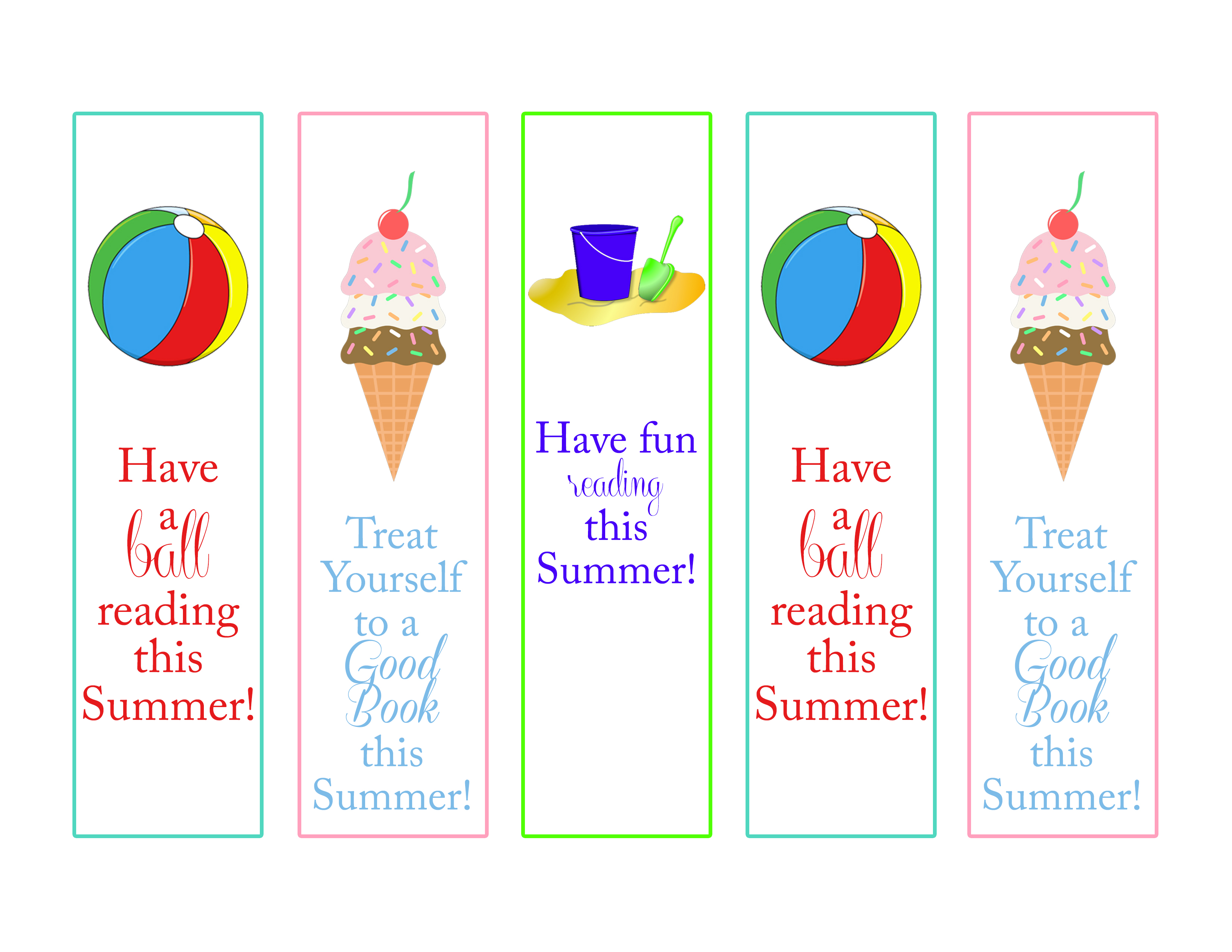 photograph regarding Have a Ball This Summer Printable known as Summertime Examining Chart and Advantage Course of action for Children