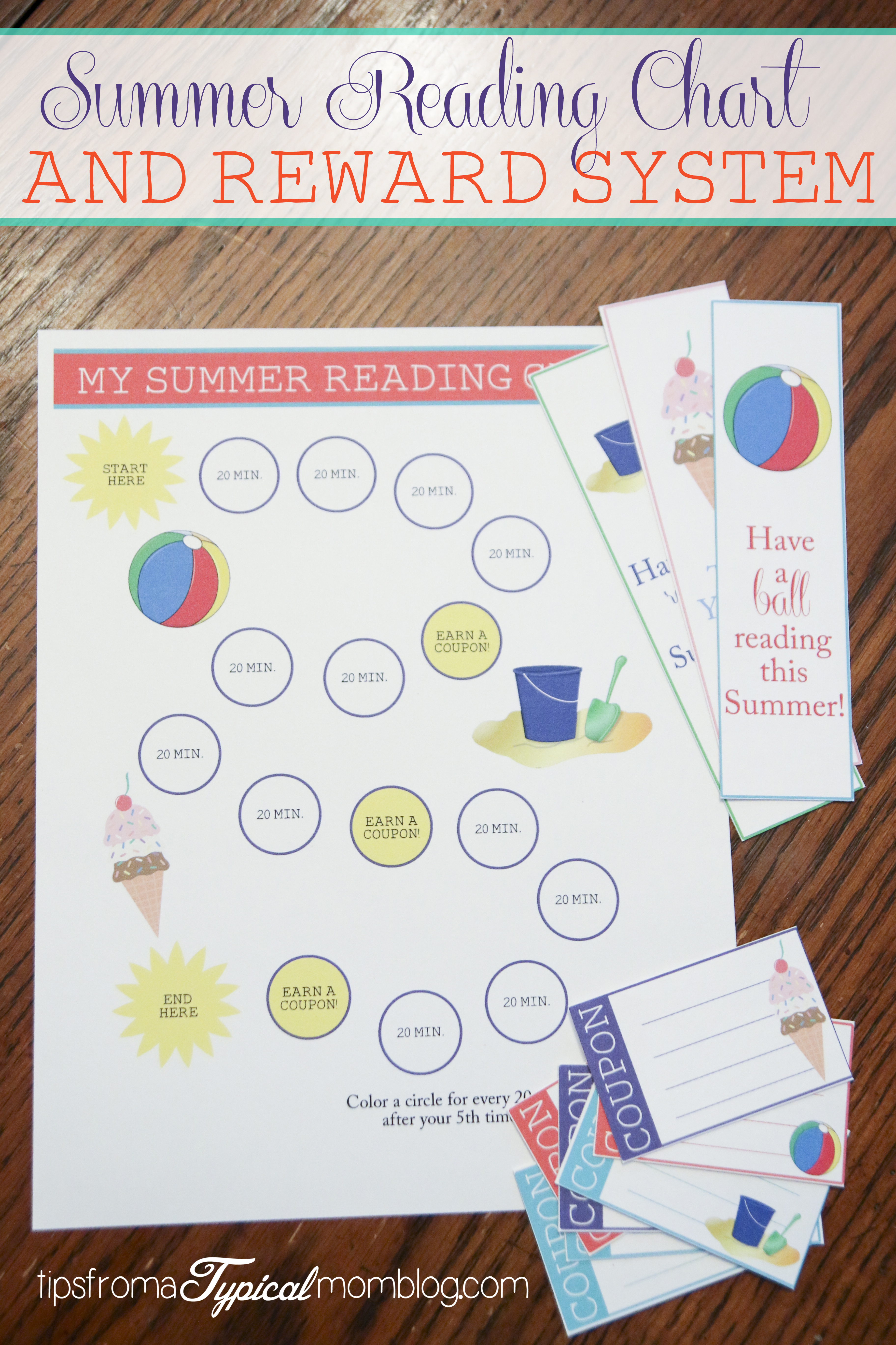 Summer Reading Chart Amp Reward System