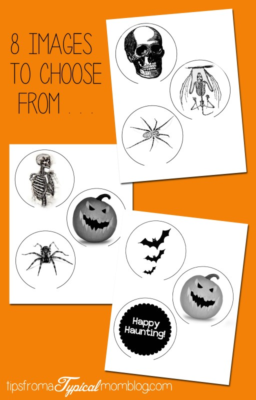 8 images to choose from Halloween Crystal Ball Candle Sticks