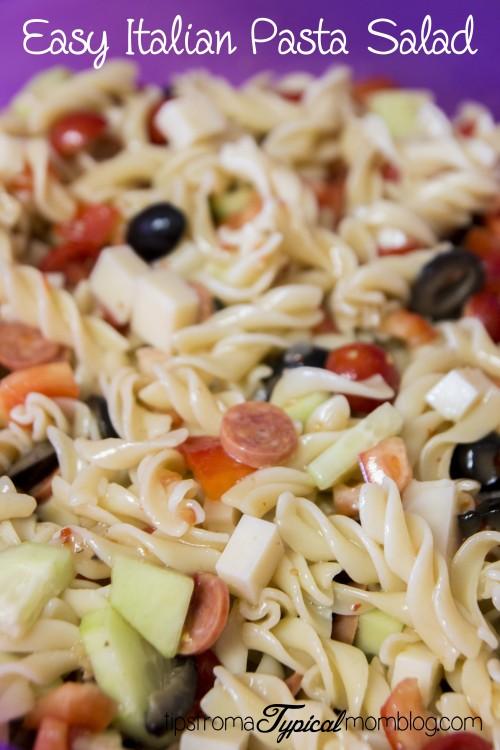 Easy Italian Pasta Veggie Salad