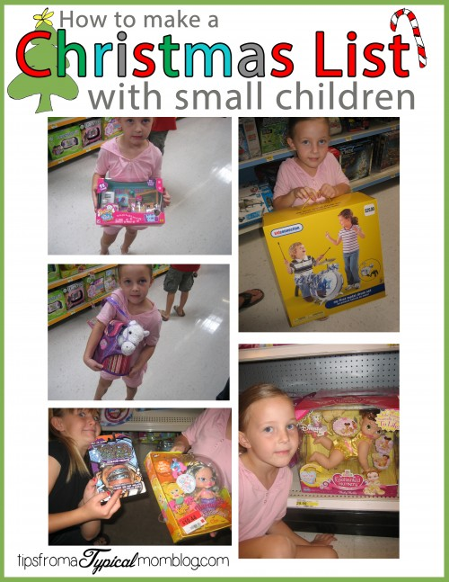 How to Make a Christmas List with Small Children #ChosenByKids