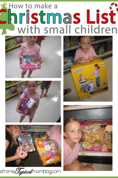 How to Make a Christmas List with Small Children #ChosenByKids