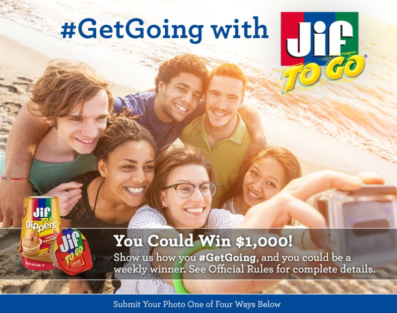 Jif Get Going Photo Contest