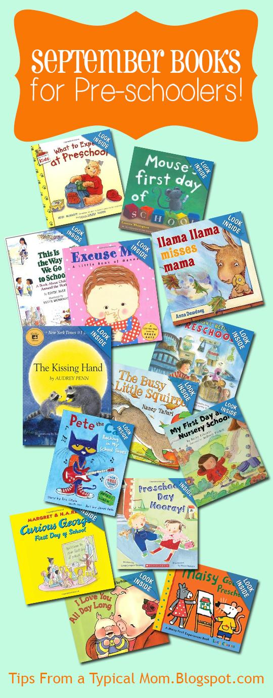September} Preschool Book List
