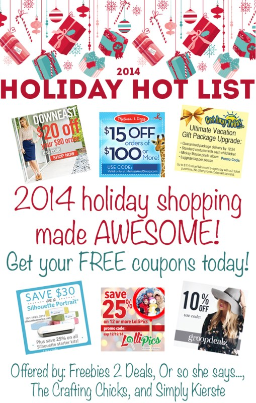 Free Must Have Coupons for the Hottest Holiday Deals!