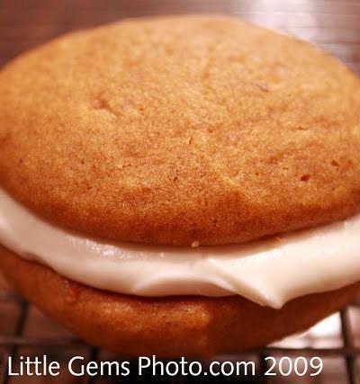 Pilgrim Pies- Pumpkin Cookies with Cream Cheese Frosting