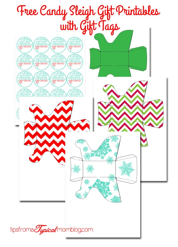 Free printable candy sleighs with gift tags free candy sleigh gift printables with gift tags negle Image collections