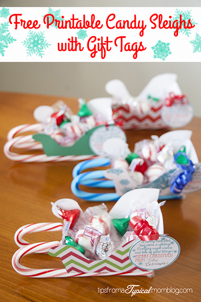Free Printable Candy Sleighs with Gift Tags + Giveaway